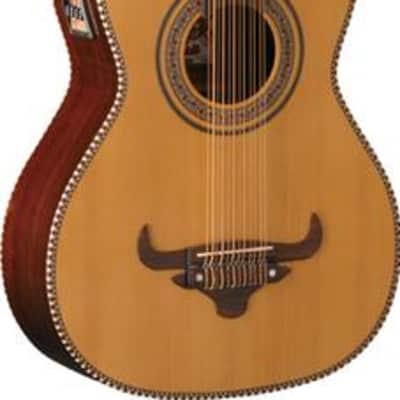 Oscar Schmidt OH52SE Solid Cedar Top 12-String Acoustic-Electric Bajo Sexto w/Deluxe Padded Gig Bag for sale