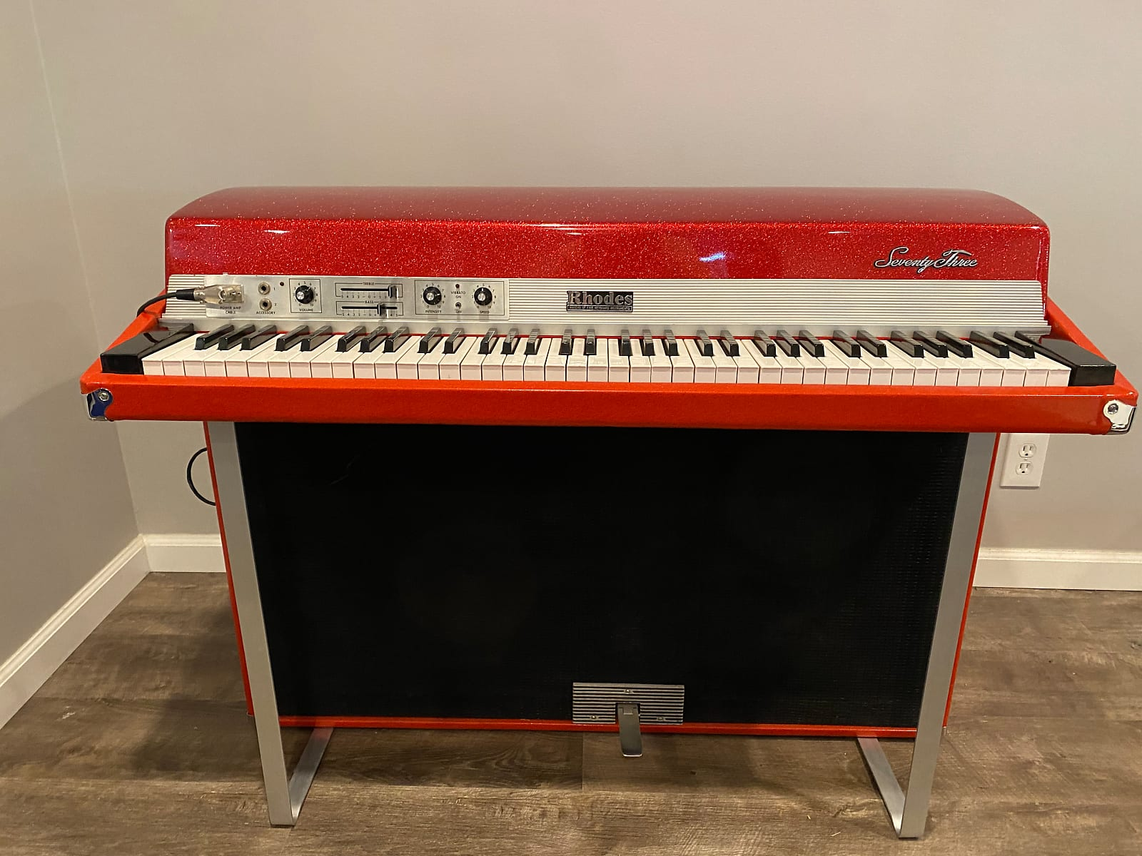 Custom Red Sparkle Rhodes Suitcase Piano