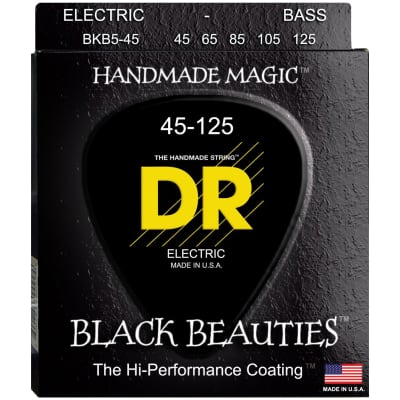 DR Strings BKB5-45 45-125 5str Black Beam Bass Strings