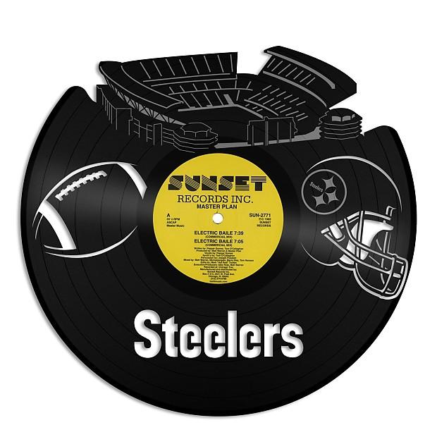 Steelers Pittsburgh football Vinyl Wall Art - White / Framed   Reverb