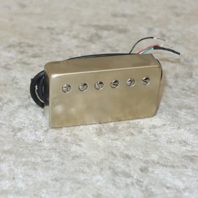 Bare Knuckle Stormy Monday neck humbucker pickup with raw nickel cover