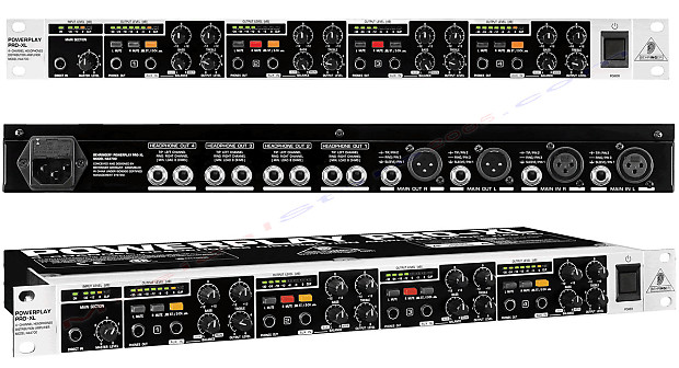 behringer powerplay pro xl ha4700 4 channel headphone amp w reverb. Black Bedroom Furniture Sets. Home Design Ideas