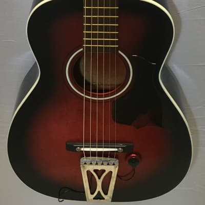 Regal T-12 70's?? parlor guitar with pickup and chip case for sale