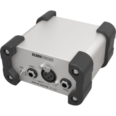 Klark Teknik DI 10A Klark Teknik Active DI Box with MIDAS Transformer, Extended Dynamic Range and Phantom/Battery Operation