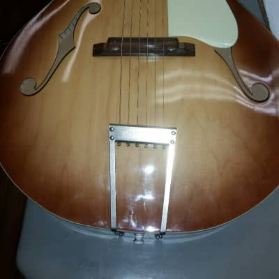 Silvertone  Archtop 1960's Natural for sale
