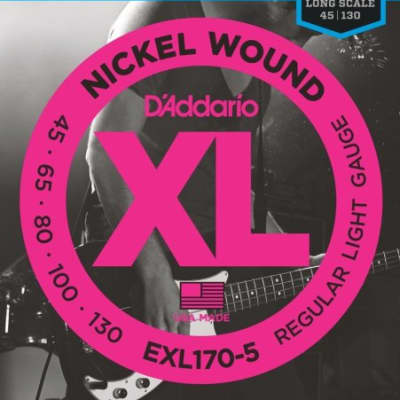 D'Addario EXL170-5 Electric Bass 5 Regular Light, .45 - .130