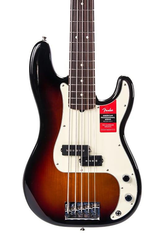 fender american professional p bass v rosewood sunburst sn reverb. Black Bedroom Furniture Sets. Home Design Ideas