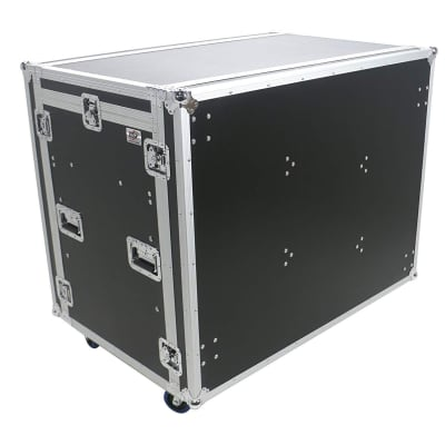 OSP Deluxe Front of House System w/Dual 12U-Racks & Standing Lid Tables | ATA-FOH-2SL