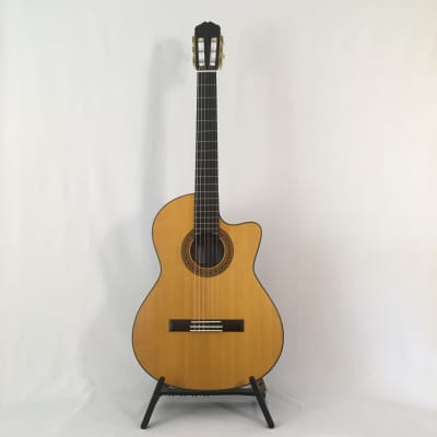 K Yairi CY128CES (2009) 60041, Satin, Nylon string electro guitar LRBaggs VTC -with Hiscox case. for sale