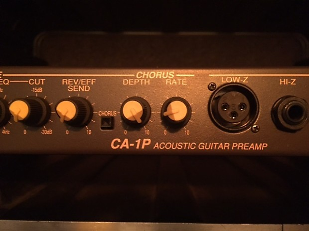 crate ca 1p acoustic preamp reverb. Black Bedroom Furniture Sets. Home Design Ideas