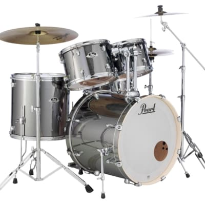Pearl Export 5-pc. Drum Set with Hardware and Zildjian Cymbals - Smokey Chrome