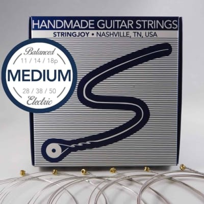 Stringjoy Balanced Medium Gauge (11-50) Nickel Wound Electric Guitar Strings