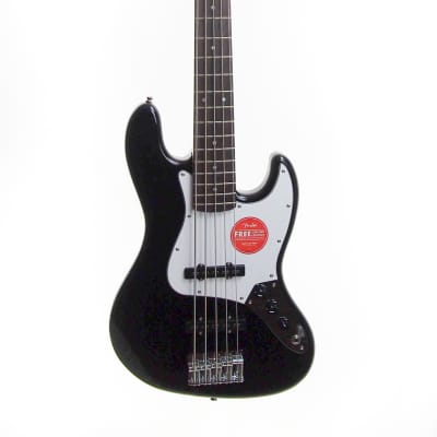 Squier AFN Jazz bass V black great neck, low action, very solid with inconspicuous body repair