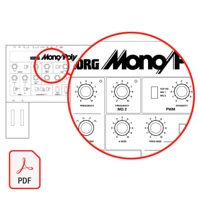 Korg (and Behringer) Mono/Poly - Synthesizer Blank Patch Sheets - PDF Download