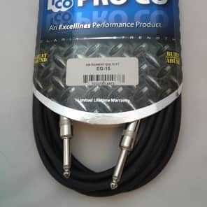 "ProCo EG Series 1/4"" TS Male to Male Instrument Cable - 15'"