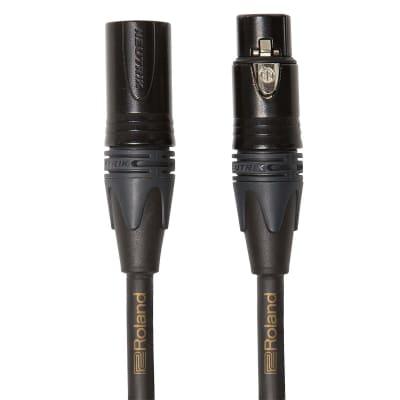 Roland RMC-G15 Gold Series Neutrik XLR Microphone Cable, 15-Feet