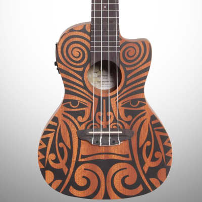 Luna Tribal Mahogany Concert Acoustic-Electric Ukulele (with Preamp) for sale