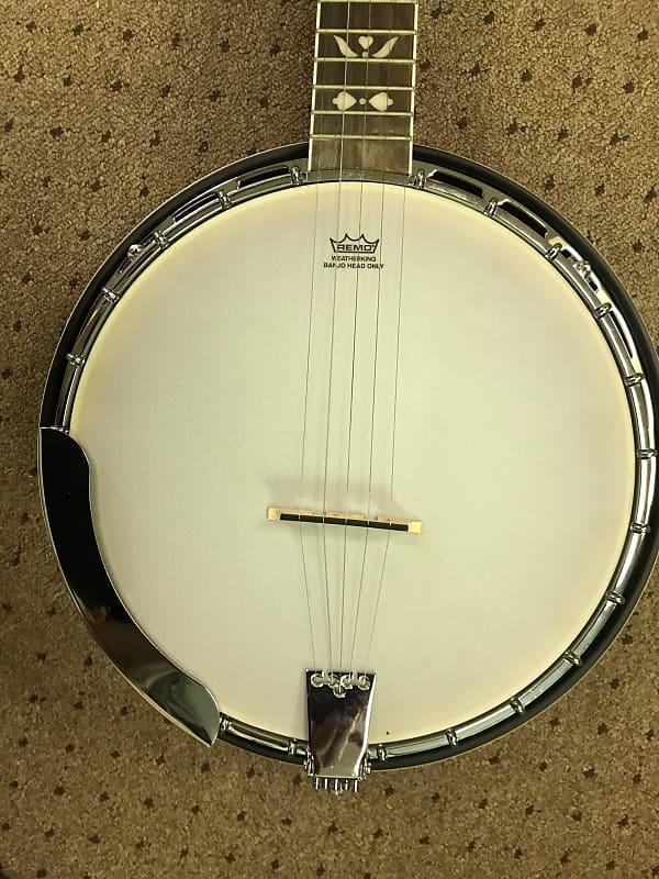 recording king rk r20 songster 5 string tone ring banjo with reverb. Black Bedroom Furniture Sets. Home Design Ideas
