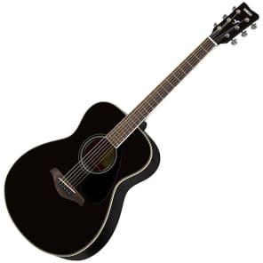 Yamaha FS820-BL Solid Spruce Top Concert Acoustic Guitar Black