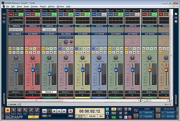 CAKEWALK SONAR PLATINUM Music Production Unlimited Recording Tracks  Software Program