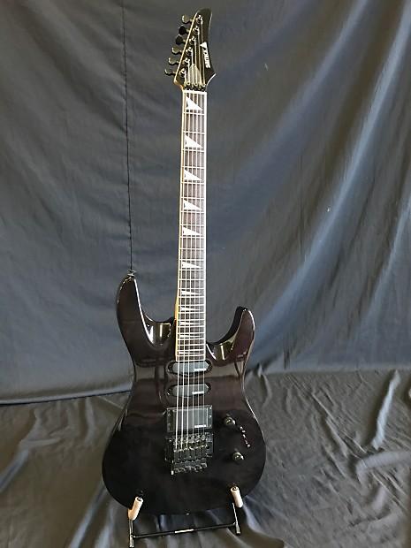 samick 1994 floyd rose korean guitar trans black reverb. Black Bedroom Furniture Sets. Home Design Ideas