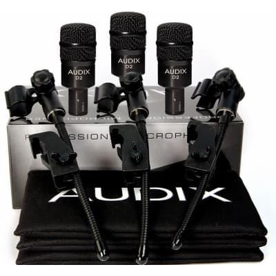 Audix D2 Dynamic Instrument Microphone Trio (3-Pack)