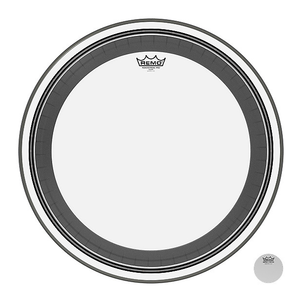 remo powerstroke pro bass drum head clear 22 inch zzounds reverb. Black Bedroom Furniture Sets. Home Design Ideas