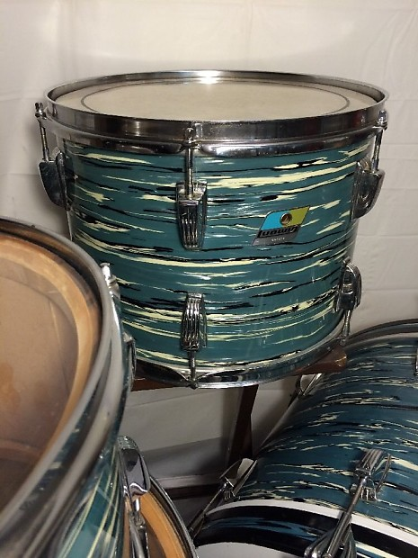 vintage ludwig blue oyster pearl drum set made reverb. Black Bedroom Furniture Sets. Home Design Ideas