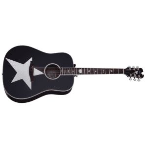 Schecter RS-1000 Robert Smith Stage Acoustic-Electric Guitar Gloss Black