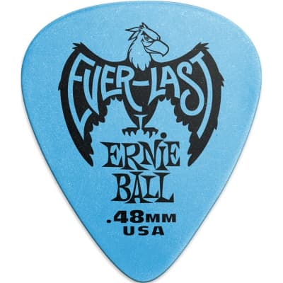 Ernie Ball 9181 Everlast Pick, .48mm, Blue, 12 Pack for sale