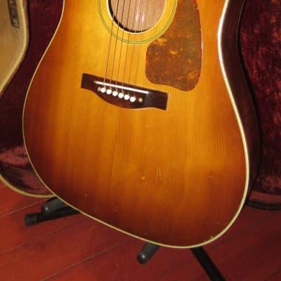 ~1959 Premier A-300 Flattop Acoustic  Sunburst w Cool Vintage Original Case for sale