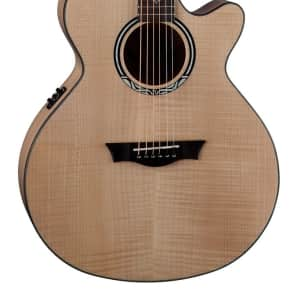 Dean Performer Ultra Flame Maple Acoustic Electric Guitar, Natural, PE UFM GN for sale