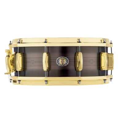 "Ludwig LBR05514CX 110th Anniversary Heirloom Black Brass 5.5x14"" Snare Drum 2019"