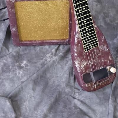 MINT RARE!! 1954 Purple Pearl Leilani Lap Steel Guitar & Amp! for sale