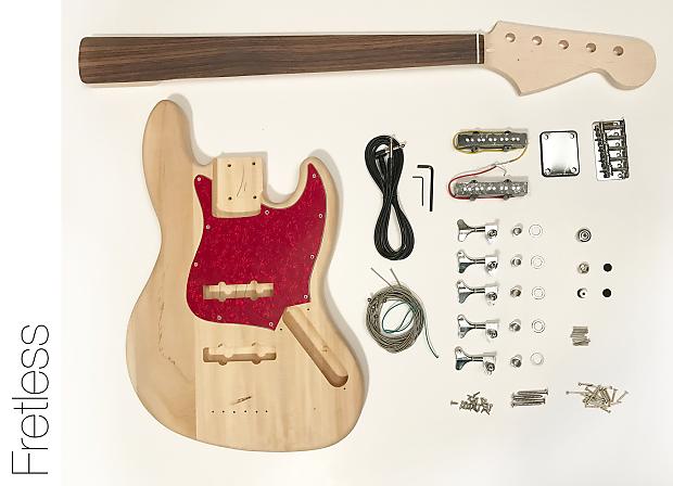 diy electric bass guitar kit fretless 5 string j bass build reverb. Black Bedroom Furniture Sets. Home Design Ideas