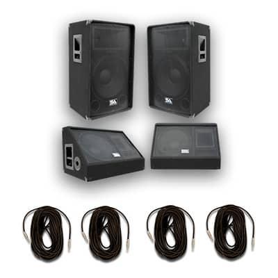 Pair 15 pa speakers 15 inch floor monitors reverb for 15 inch floor speakers