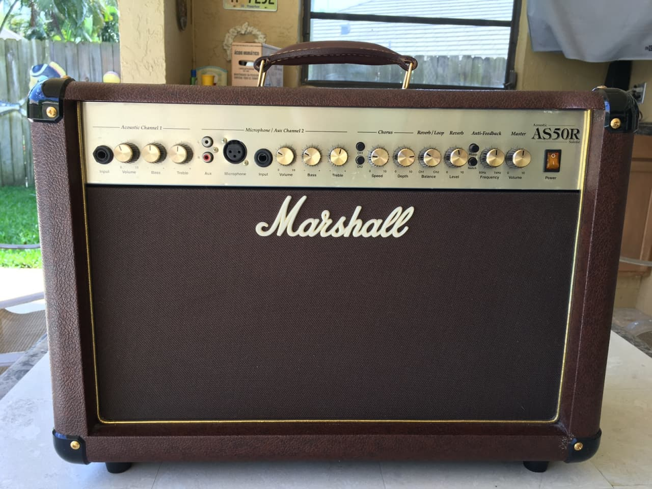 marshall as50r acoustic guitar amplifier 50 watt reverb. Black Bedroom Furniture Sets. Home Design Ideas