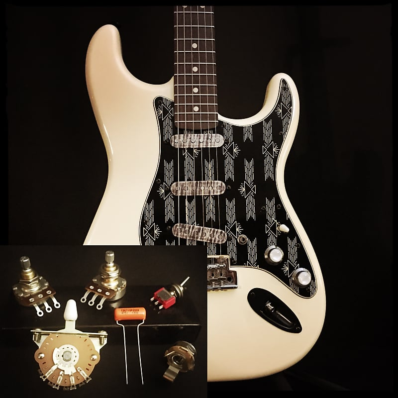 sidewinder guitars stratocaster 7 sound wiring kit neck add reverb. Black Bedroom Furniture Sets. Home Design Ideas