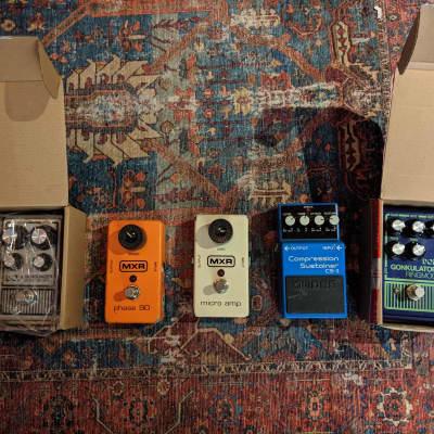 [[5 pedal lot]] MXR, DOD, and Boss Pedal Lot (phase 90, Gonkulator, CS-3, Gunslinger, Micro amp)