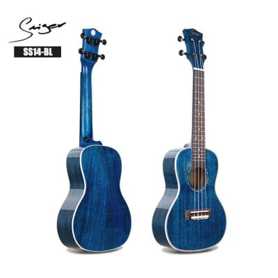 Smiger SS14-BL Blue Gloss Finish 24 InchUkulele