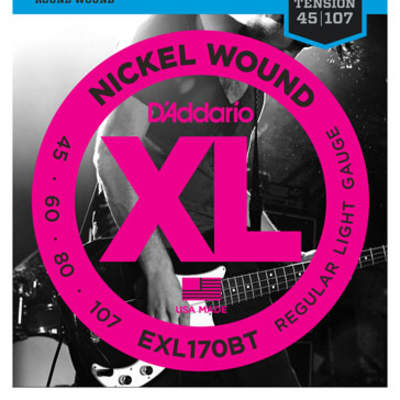 D'Addario EXL170BT Balanced Tension Nickel Wound Bass Strings 45-107