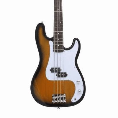 Oscar Schmidt OSB-400C-TS Maple Neck 4-String Precision Electric Bass Guitar - Tobacco Sunburst for sale