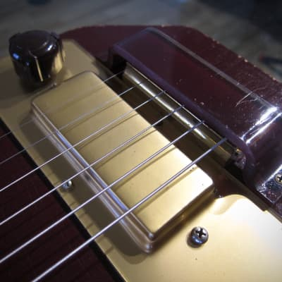 Vintage 1952 Kalamazoo Electric Hawaiian Steel Guitar Red with White Original HSC for sale