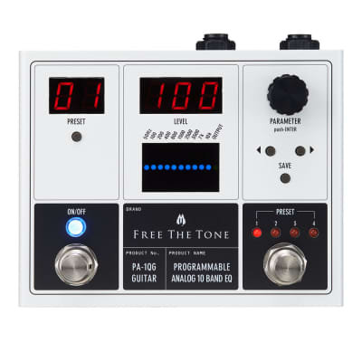 Free The Tone PA-1QG Programmable Analog 10-band EQ for Guitar
