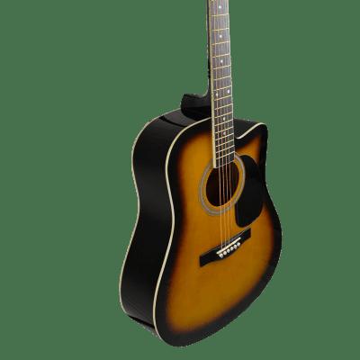 Huntington GA41C-NT Acoustic Cutaway Guitar 41-Inch Natural