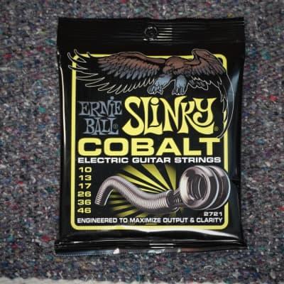 Ernie Ball Cobalt Regular Slinky Electric Guitar Strings 10-46 (Lime)