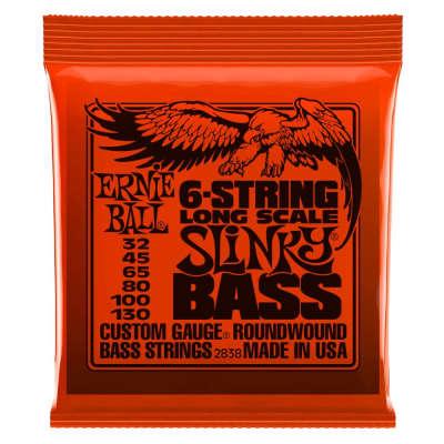 Ernie Ball 2838 Slinky 6-String Bass Set, Long Scale 32-130