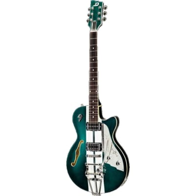 Duesenberg Alliance Mike Campbell 40th Anniversary Catalina-Green & White Signature Electric Guitar for sale