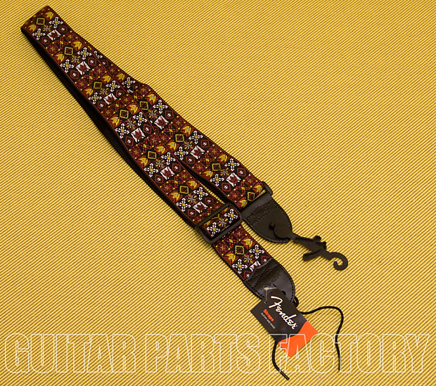 "RED NEW Fender 2/"" Festival Hootenanny Guitar Strap #099-0614-001"