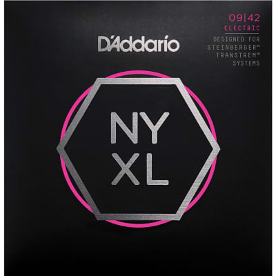 D'Addario NYXLS0942 Nickel Wound Super Light Double Ball End Electric Guitar Strings, 09-42